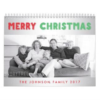 Felices Navidad 2017 calendarios personalizados de