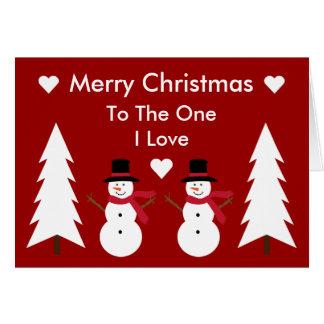 Felices Navidad a la una tarjeta de los muñecos de