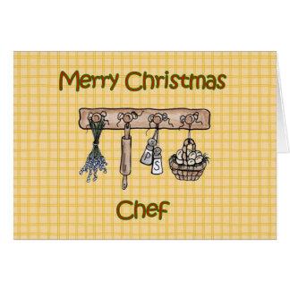 Felices Navidad a los utensilios de la cocina del  Tarjetón