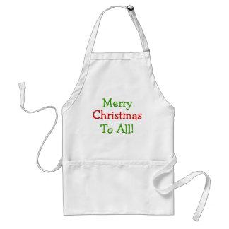 ¡Felices Navidad a todos!   delantal blanco largo