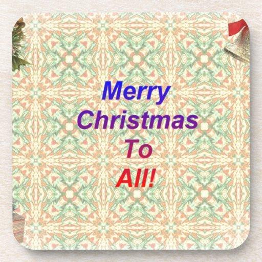 Felices Navidad a todos Posavasos De Bebida
