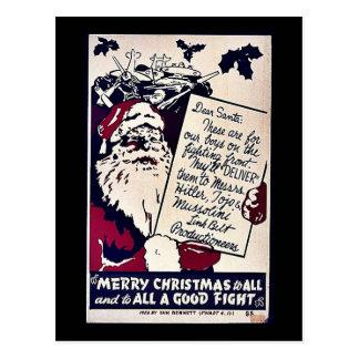 Felices Navidad a todos Tarjeta Postal