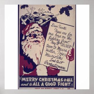 Felices Navidad a todos y a todo el una buena luch Posters