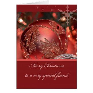 Felices Navidad a un amigo muy especial Tarjeta De Felicitación
