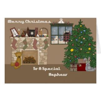 Felices Navidad a un sobrino especial Tarjeta De Felicitación