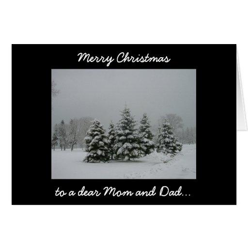 Felices Navidad a una estimados mamá y papá Tarjeta De Felicitación
