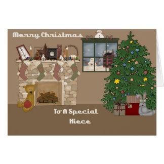 Felices Navidad a una sobrina especial Tarjeta De Felicitación