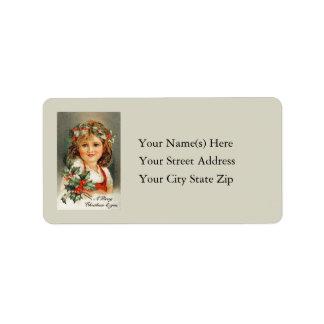 Felices Navidad a usted etiqueta de dirección del