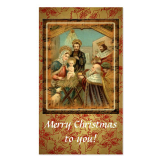 Felices Navidad a usted tarjeta de visita de