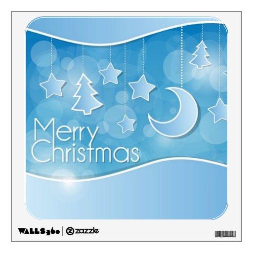 Felices Navidad abstractas Vinilo Decorativo
