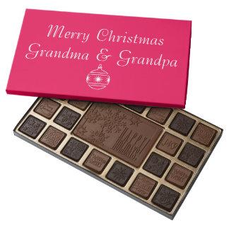 Felices Navidad abuela y abuelo Caja De Bombones Variados Con 45 Piezas
