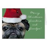 Felices Navidad abuela y tarjeta del barro amasado