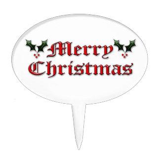 Felices Navidad - acebo Figuras De Tarta
