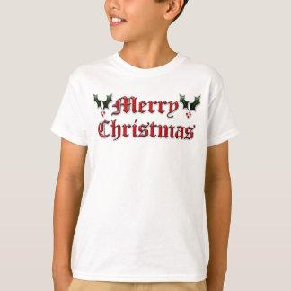 Felices Navidad - acebo Playera