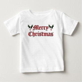 Felices Navidad - acebo Playera De Bebé