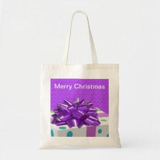 Felices Navidad adaptables Bolsa Lienzo