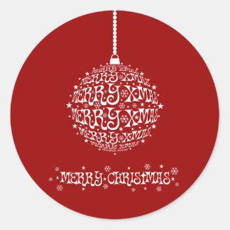 Felices Navidad adaptables elegantes Pegatinas Redondas