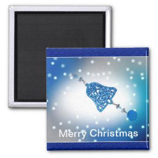 Felices Navidad adaptables Imán Cuadrado