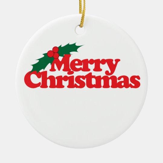 Felices Navidad Adorno Navideño Redondo De Cerámica