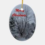 Felices Navidad Adorno Ovalado De Cerámica