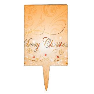 Felices Navidad Decoración De Tarta