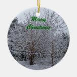 Felices Navidad Adorno Redondo De Cerámica
