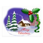 Felices Navidad al aire libre Postal