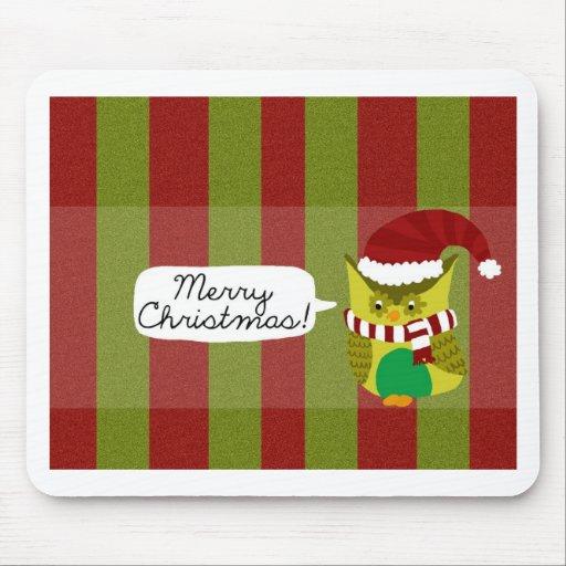 """Felices Navidad al """"búho """" Alfombrilla De Ratón"""