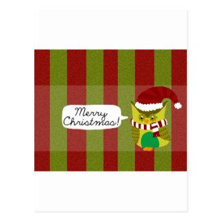 """Felices Navidad al """"búho """" Postal"""