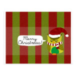 """Felices Navidad al """"búho """" Tarjetas Postales"""