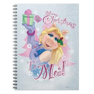Felices Navidad al Moi Libros De Apuntes Con Espiral