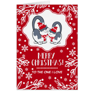Felices Navidad al un amor de I. Tarjetas de