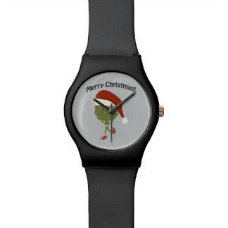¡Felices Navidad! Alcachofa corriente de Santa Relojes De Pulsera
