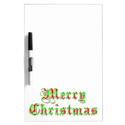 Felices Navidad alegres Pizarras Blancas De Calidad