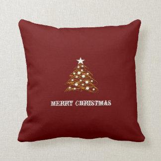 Felices Navidad - almohada de oro decorativa del á