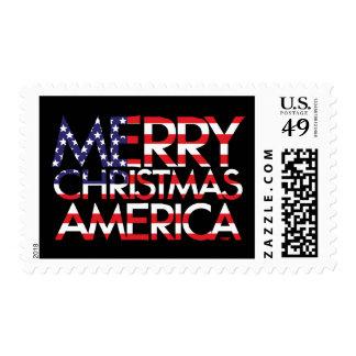 Felices Navidad América Timbre Postal