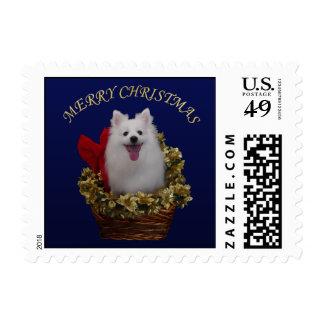 Felices Navidad americanas del perro esquimal Sellos