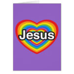 Felices Navidad. Amo a Jesús. Corazón de Jesús Tarjeton