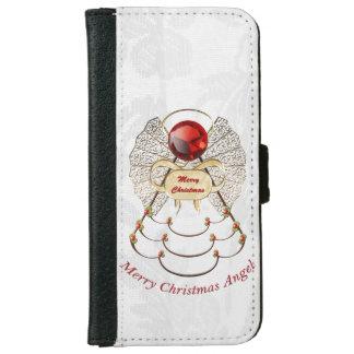 Felices Navidad - ángel afiligranado del navidad Carcasa De iPhone 6