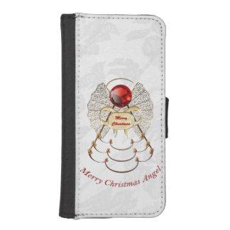Felices Navidad - ángel afiligranado del navidad Cartera Para iPhone 5