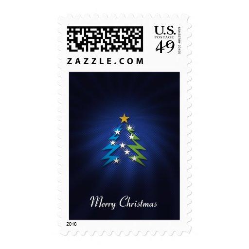 Felices Navidad - árbol de navidad - franqueo
