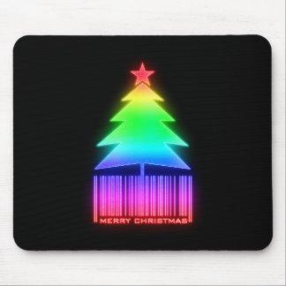 Felices Navidad - árbol de navidad que brilla inte Tapetes De Ratones