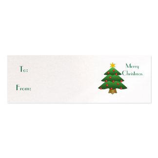 Felices Navidad, árbol de navidad Tarjetas De Visita Mini