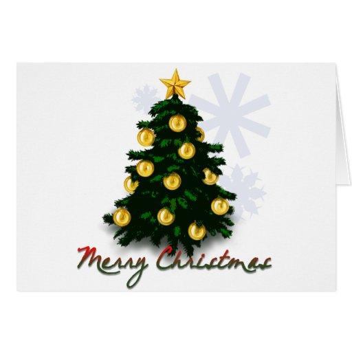 Felices Navidad - árbol de Navidad Tarjeta De Felicitación