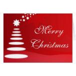 Felices Navidad - árbol de navidad Tarjeton