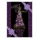 Felices Navidad - árbol y luces del día de fiesta
