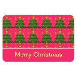 Felices Navidad, árboles de navidad Iman De Vinilo