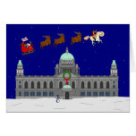Felices Navidad - ayuntamiento Belfast Tarjeton