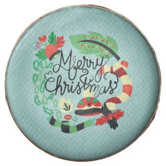 Felices Navidad azules