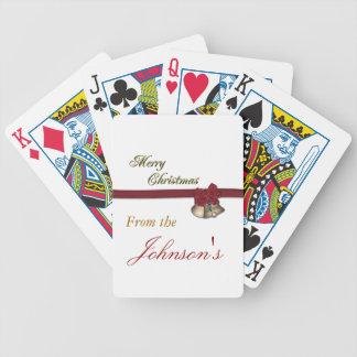 Felices Navidad Baraja Cartas De Poker